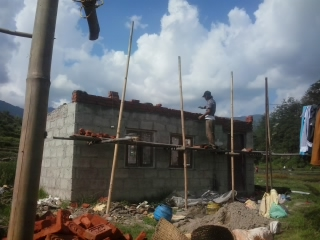 Repairs to earthquake damaged house